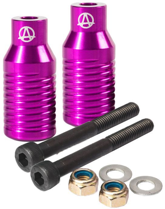 APEX Bowie Grind Pegs Set PURPLE Freestyle Stuntscooter Roller NEU