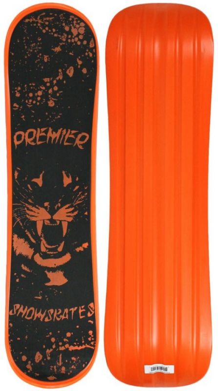PREMIER Tigerstyle Plastic Orange Snowskate 9.25