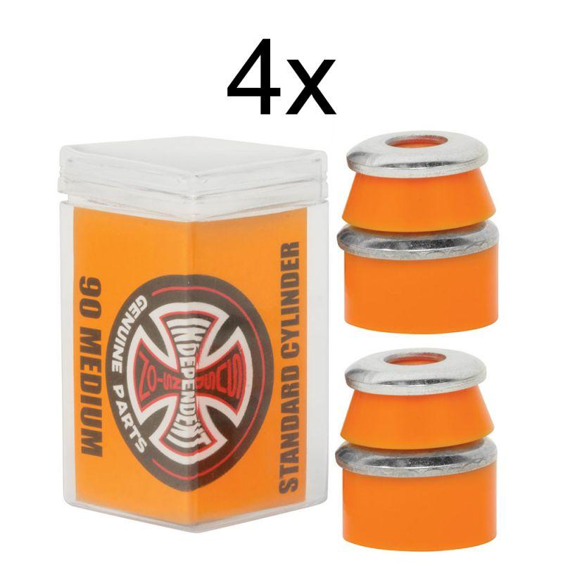 INDEPENDENT Standard Cylinder Cushions Box Medium 90A Orange - 4 Bushingsets