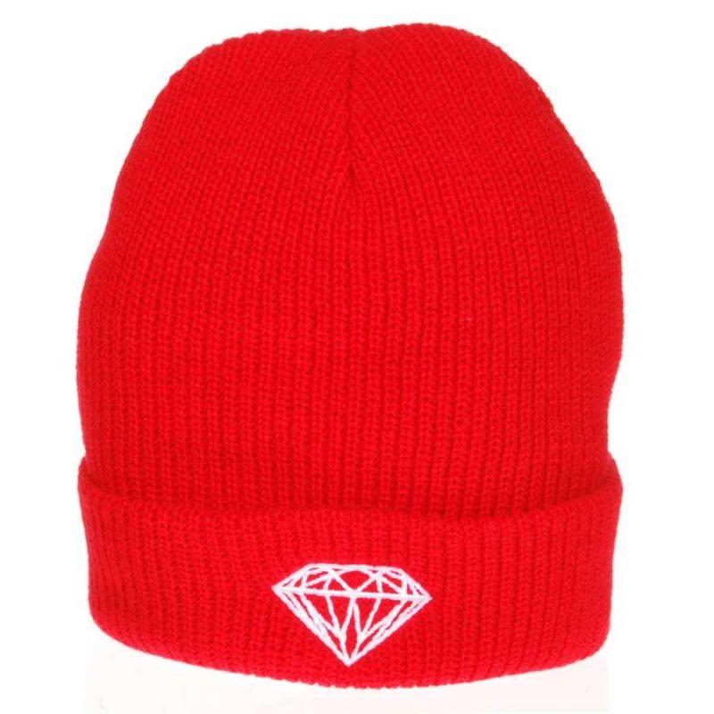 DIAMOND SUPPLY Brilliant Fold Beanie - Red