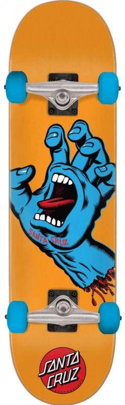 "SANTA CRUZ Screaming Hand Mid 7.8"" Orange - Skateboard Komplett"