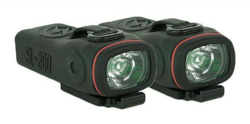 SHREDLIGHTS SL-200 2-Pack - Back with brackets - Rücklichter für Skate-/Longboards