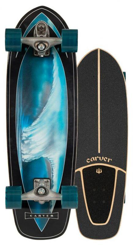 """CARVER Super Surfer C7 Raw 32"""" - Surfskate Komplett"""