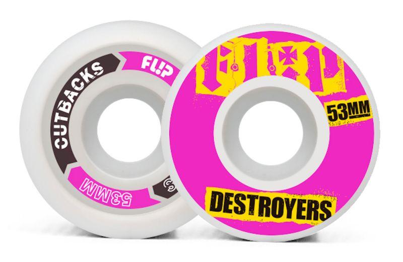 FLIP Cutback 53mm 99a Pink - Skateboard Rollen
