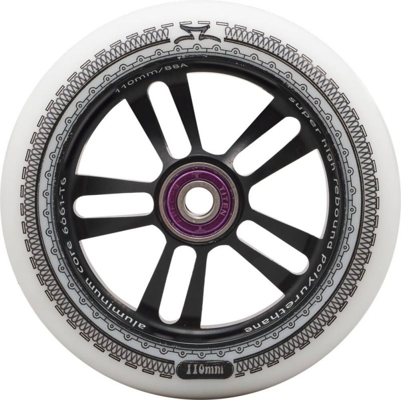 AO Mandala Wheel 110mm inkl. Titen Abec 9 Black/White - Scooter Rolle