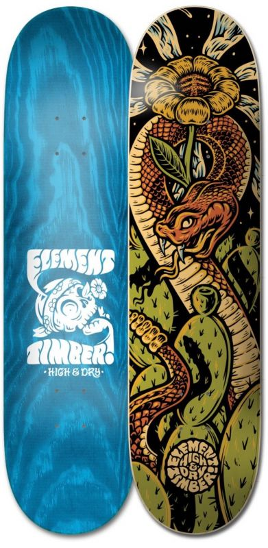 "ELEMENT Timber High Dry Snake 8.5"" - Skateboard Deck"