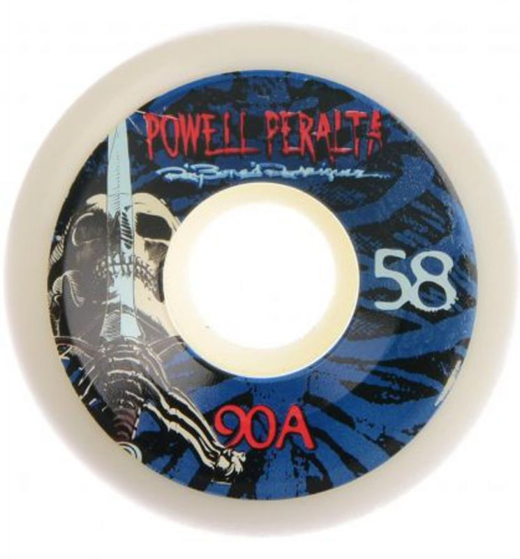 POWELL PERALTA Ray Rodriguez Skull and Sword Wheels 58mm 90a