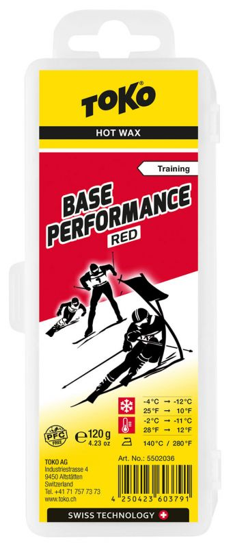 TOKO Base Performance Hot Wax Red - Snowboardwachs