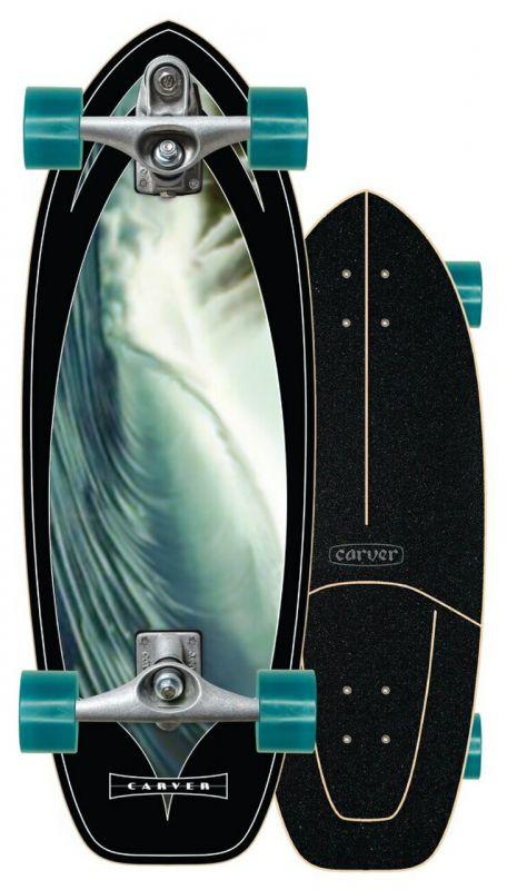 """CARVER Super Snapper C7 Raw 28"""" - Surfskate Komplett"""