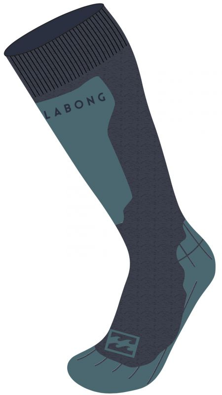 BILLABONG Park Coolmax Men Socks - Navy Heather - M - Snowboard Socken