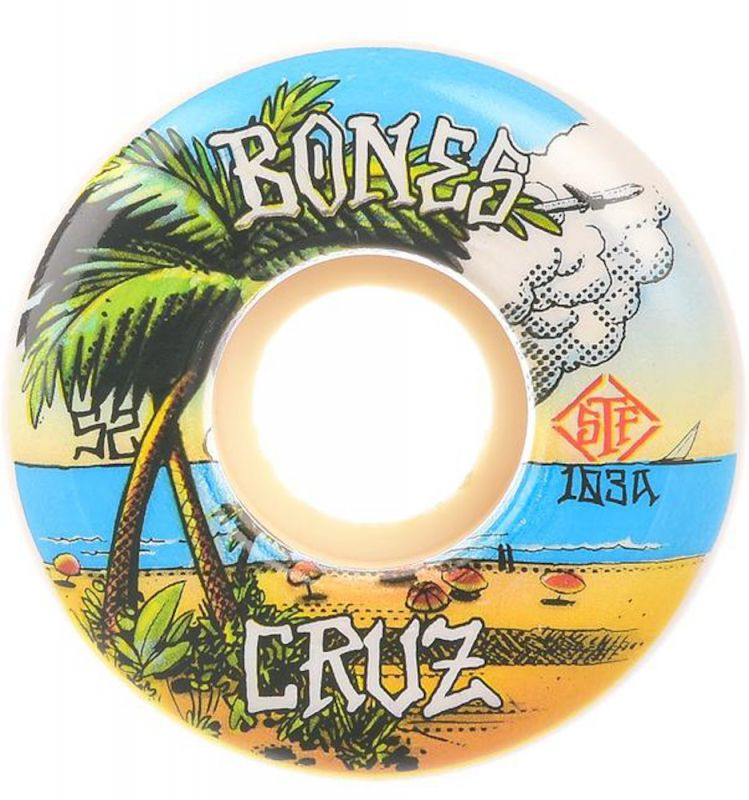 BONES WHEELS STF Cruz Buena Vida 103A V2 Locks - Skateboard Rollen