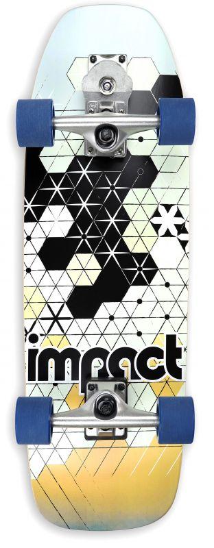 """IMPACT Tokyo Sunset Radical Surf 30"""" - Surfskate Komplett"""
