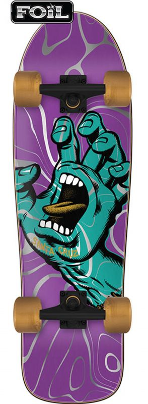 "SANTA CRUZ Screaming Hand Ooze 80s Cruzer 9.7""- Minicruiser Komplett"