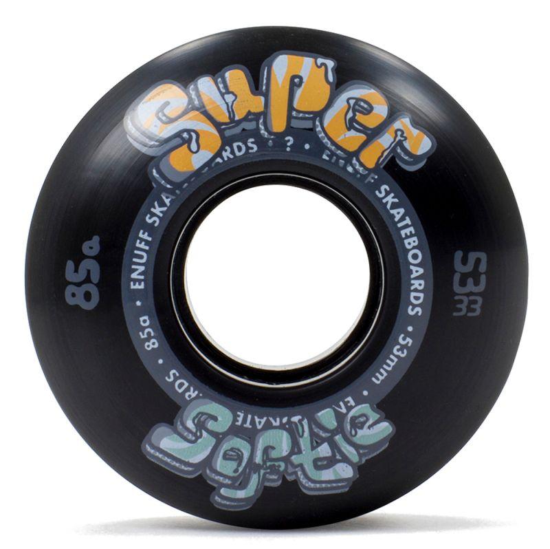 ENUFF Super Softie Wheels 53mm 85a Black - Skateboardrollen