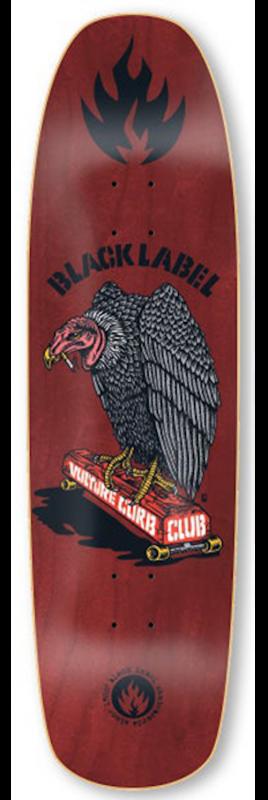 "BLACK LABEL Vulture Club Red 8.88"" - Skateboard Deck"