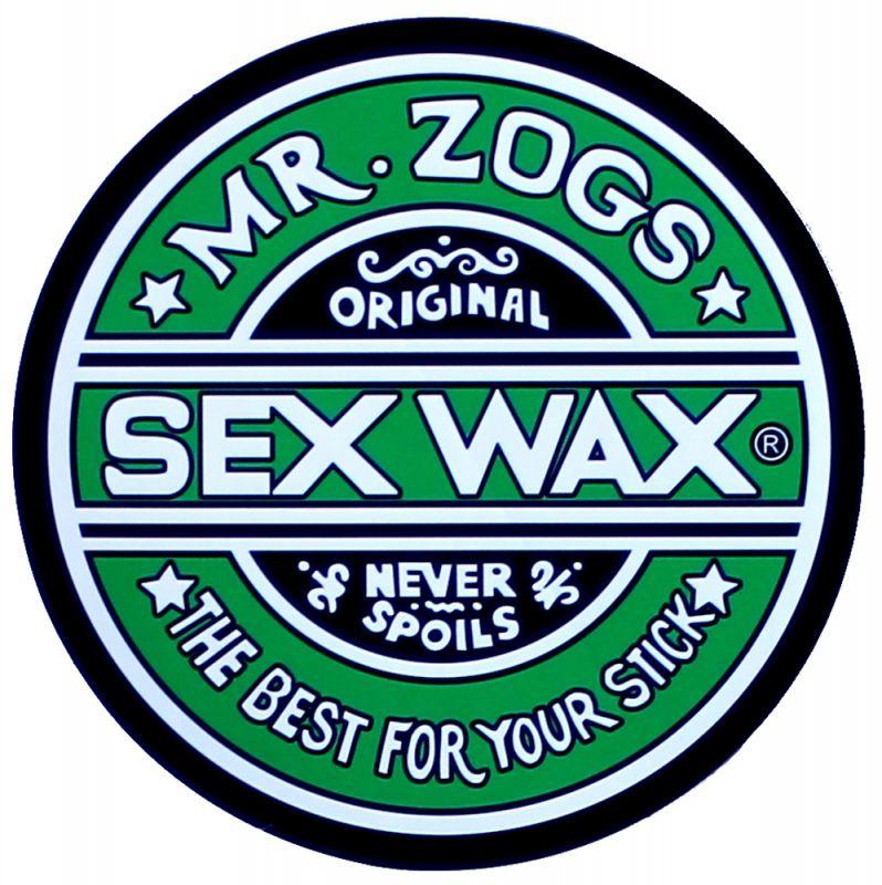 """SEX WAX Sticker 7"""" Green - Circular Original Logo - Aufkleber"""
