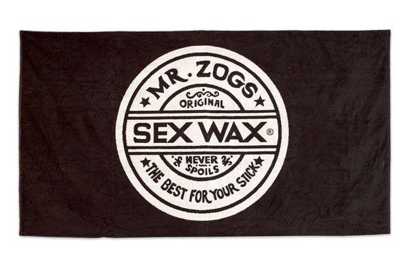 SEX WAX Beach Towel 100x180cm Black Badehandtuch