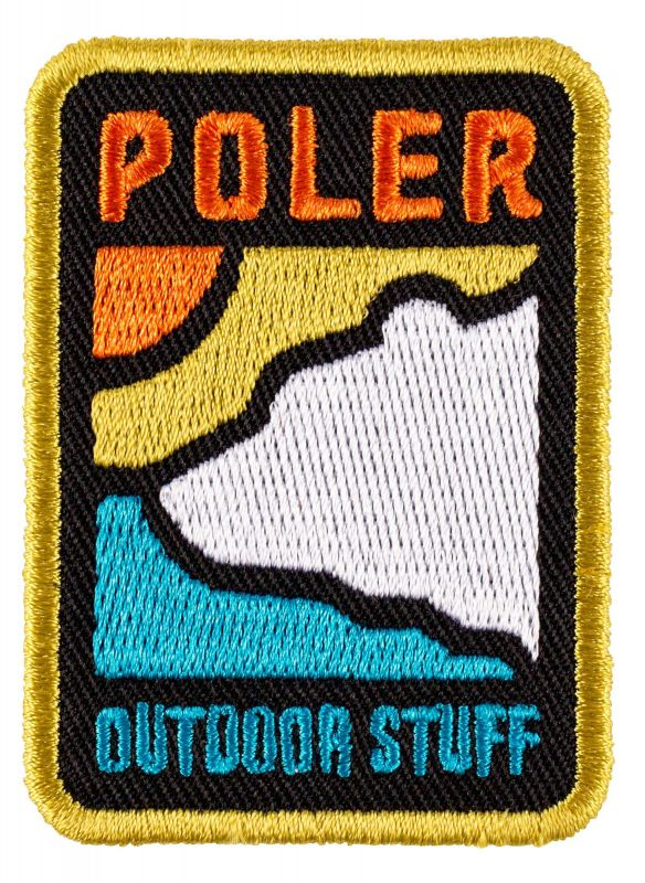 POLER STUFF Geo Bear Iron-On Patch | Aufnäher