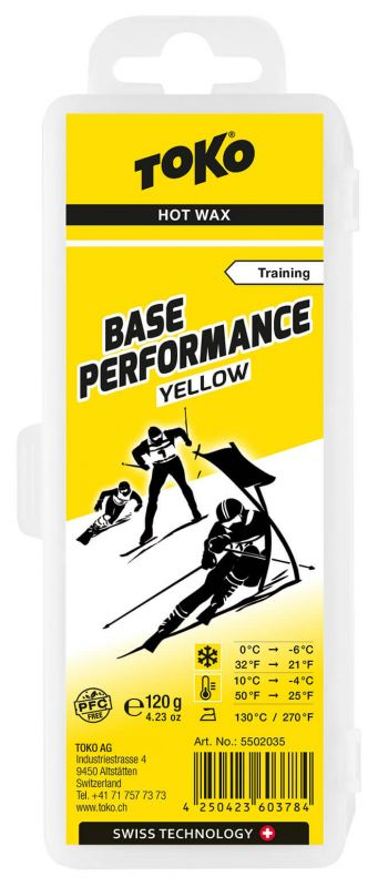 TOKO Base Performance Hot Wax Yellow - Snowboardwachs