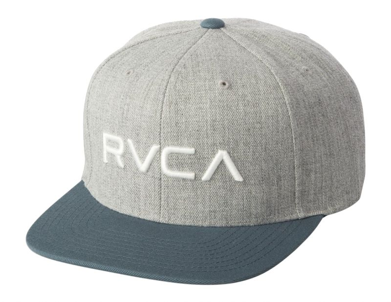 RVCA Twill Snapback III Cap Grey Blue
