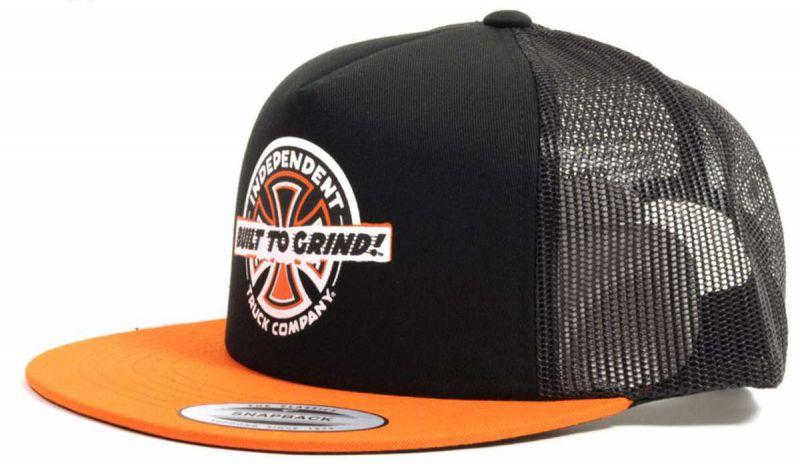 INDEPENDENT Mash Up Mesh Snapback Cap Orange/Black