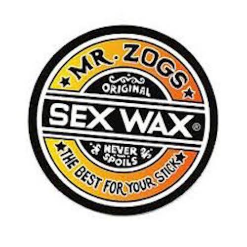 "SEX WAX Sticker 7"" Faded Orange"