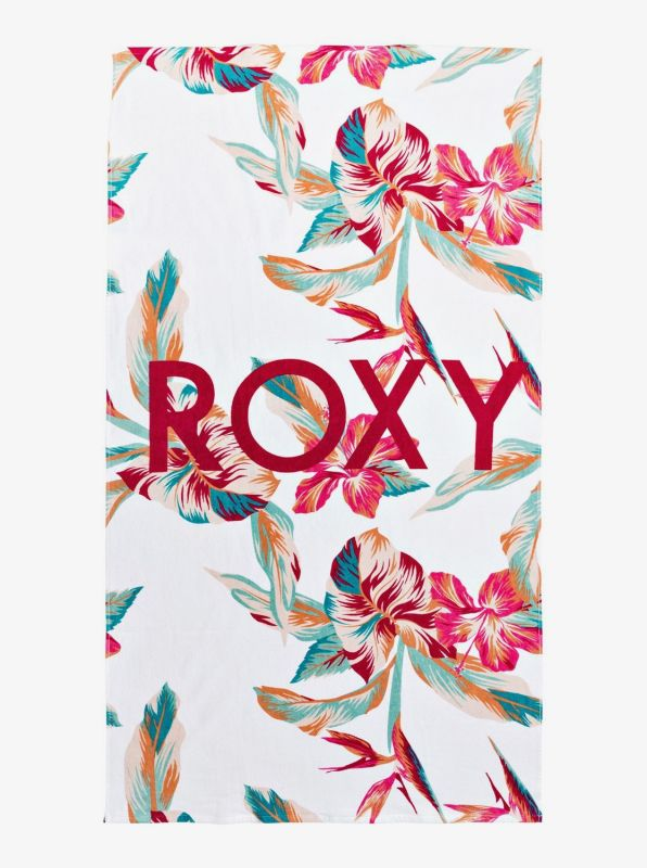 ROXY Cold Water Bright White Tropical Handtuch