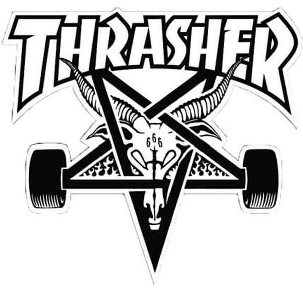THRASHER Skategoat Board Black | Sticker Aufkleber