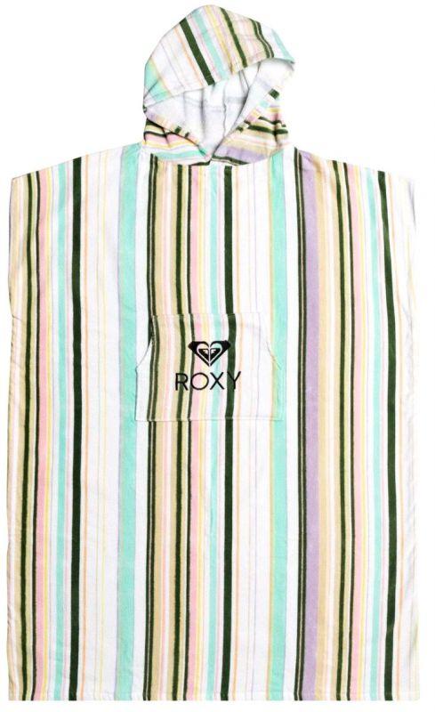 ROXY Stay Magical Printed Bright White Kamuela Stripes  - Surf Poncho