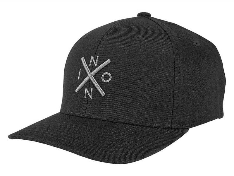 NIXON Exchange Flex Fit Cap - Black/Charcoal - S/M