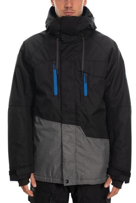 686 Men's Geo Insulated Jacket Black Colorblock - M - Snowboard Jacke