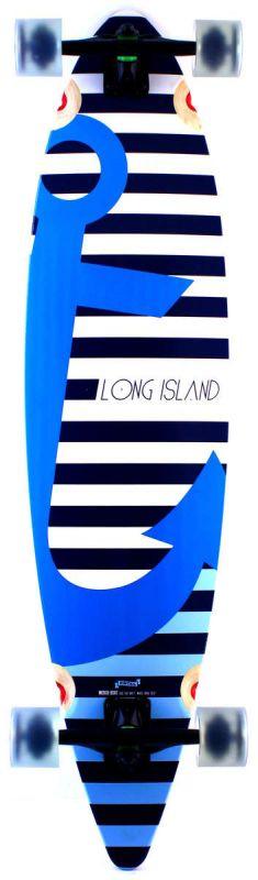 LONG ISLAND Boat Pintail Longboard Komplett