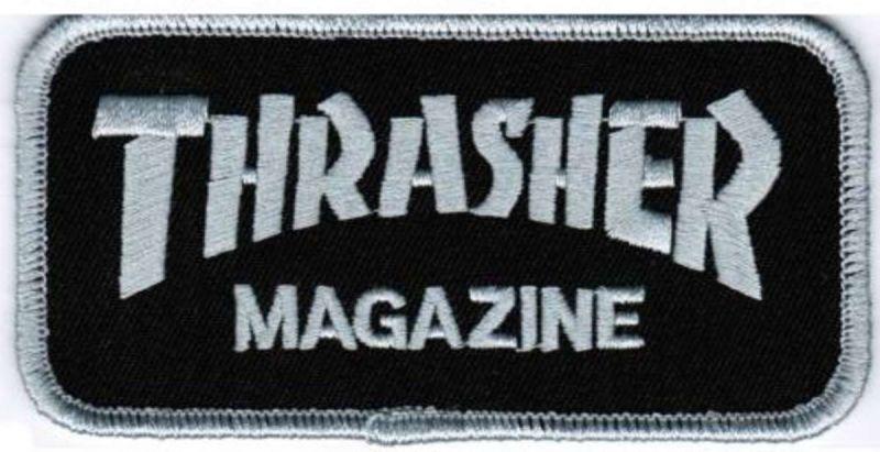 THRASHER Logo Patch Aufnäher Black