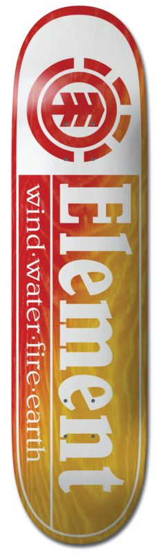 """ELEMENT Section Yellow Red 8.25"""" - Skateboard Deck"""