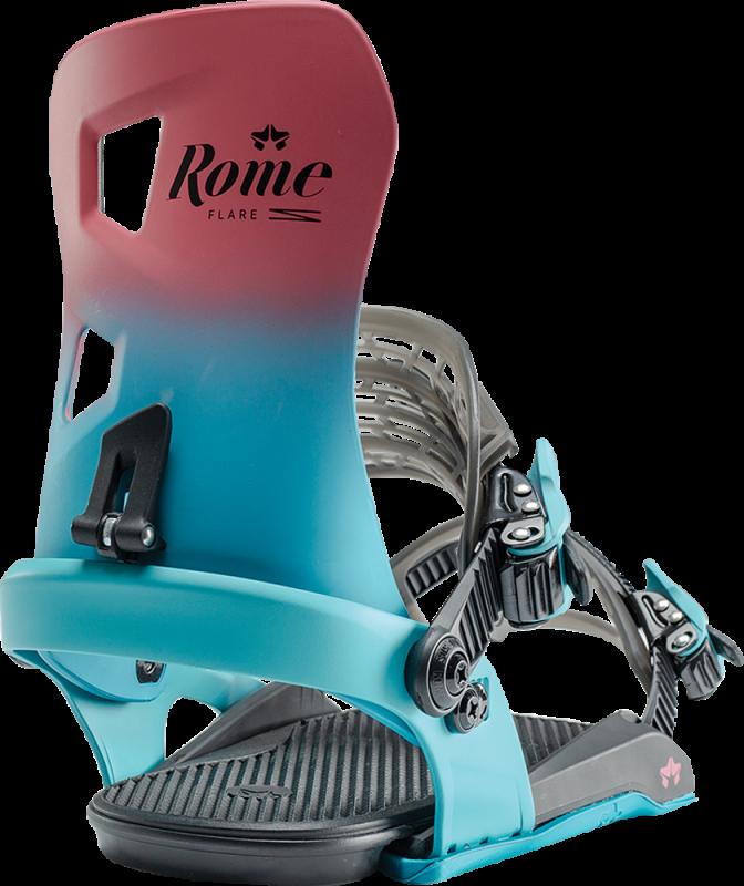 ROME Flare Berry Fade S - Snowboard-Bindung 2020