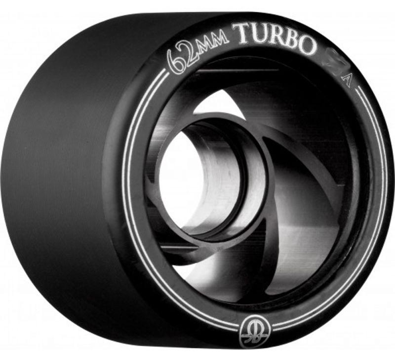 ROLLERBONES Turbo Wheel Aluminium Hub 62mm 101a Black 4er-Set