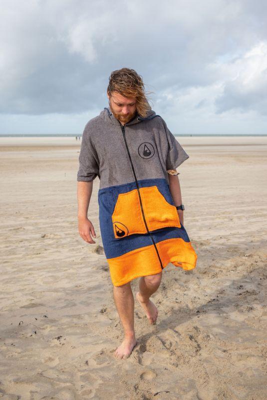 WAVE HAWAII  Zip Ponchino Shany (Größe L)  - Surf Poncho