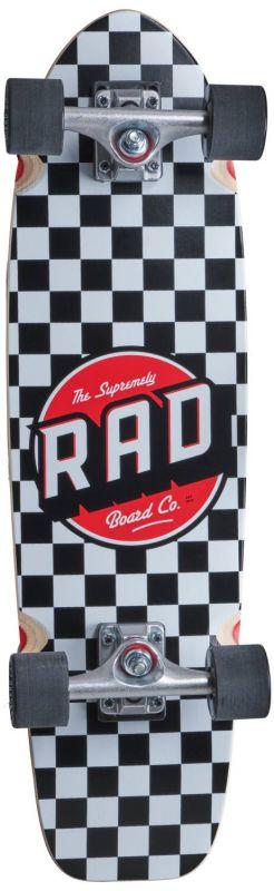 "RAD Retro Roller Cruiser 28"" Checkers Black - Minicruiser Komplett"