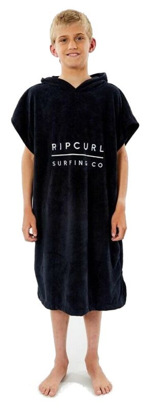 RIP CURL Hooded Towel-Boy Black - Surf Poncho