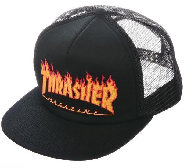 THRASHER Embroidered Flame Logo - Trucker Cap