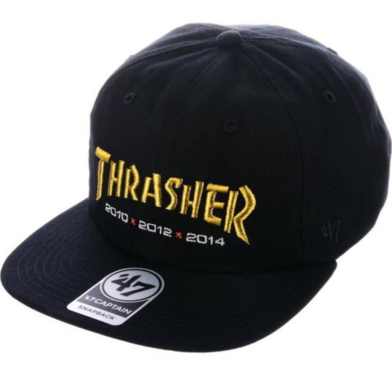 THRASHER X 47 BRAND Rival Snapback Black