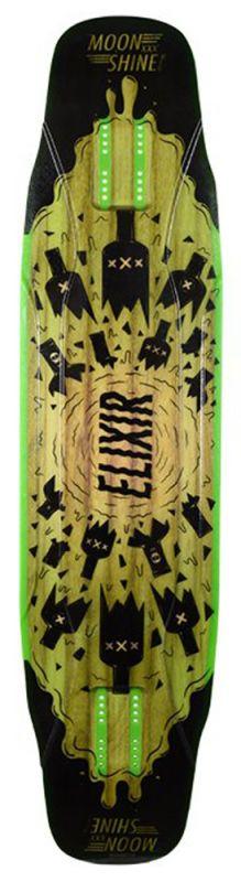 MOONSHINE Elixir Black/Green - Longboard Deck