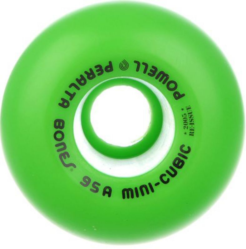 POWELL PERALTA Mini Cubic 64mm 95a Green Wheels