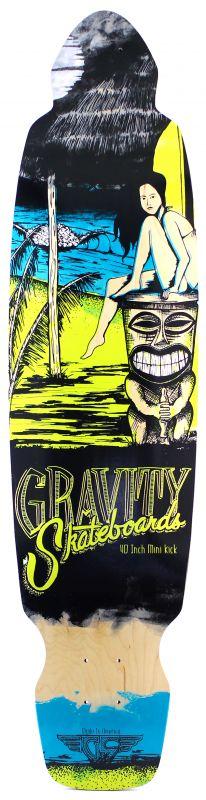 GRAVITY - Mini Kick 40 Yellow - Longboard Deck