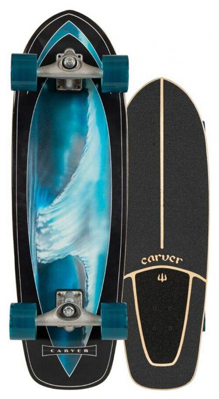 """CARVER Super Surfer CX Raw 32"""" - Surfskate Komplett"""