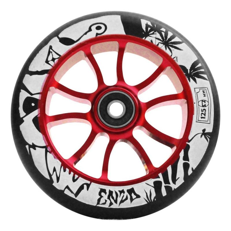 AO Enzo 2 Wheel 125mm incl. Abec 9 Bearing Red - Scooter Rollen