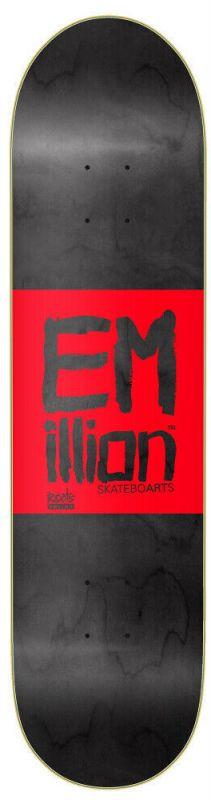"""EMILLION Roots 8.25"""" Black/Red - Skateboard Deck"""