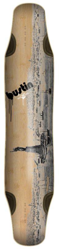 "BUSTIN Daenseu 42"" Old NY Graphic - Longboard Deck"