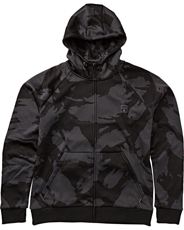 BILLABONG Downhill Zip Hood - Dark Camo - M - Snowboard Kapuzenpullover