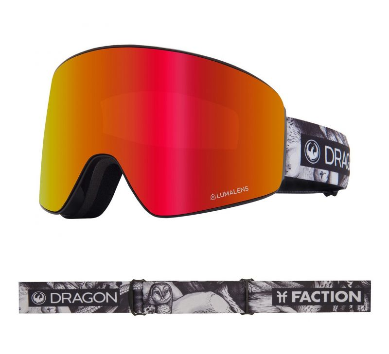DRAGON PXV - Faction with Lumalens Red Ionized + Lumalens Rose Lens - Snowboardbrille
